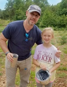 Father's Day berry picking