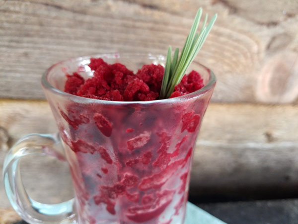 Blackberry Lavender Granita